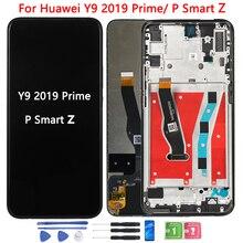Original P Smart Z LCD pour Huawei Y9 2019 affichage LCD principal avec cadre STK-LX1 écran tactile numériseur assemblée 6.59 pouces LCD