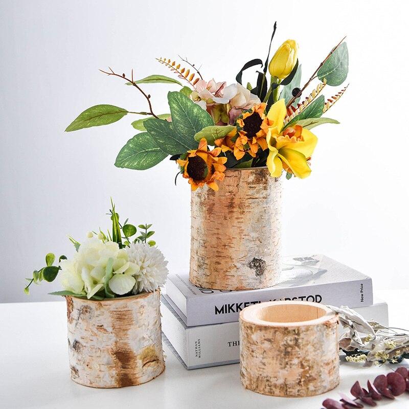 Idílico maceta para flor pequeña olla de resina plantas carnosas olla Árbol Abstracto de Pote de flor escritorio de casa florero Micro paisaje Decoración