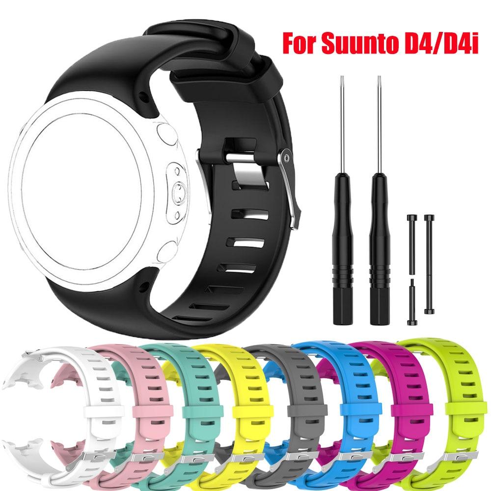 Para Suunto D4/D4i pulsera de correa de reloj de goma para Suunto D4/D4i accesorios de correa de repuesto de silicona
