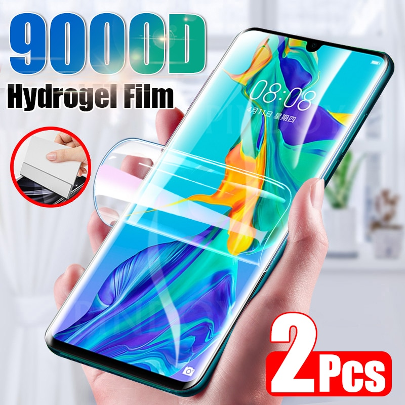 2Pcs מסך מגן עבור Huawei P30 P20 P40 לייט פרו P חכם 2019 מלא כיסוי הידרוג 'ל סרט עבור Huawei mate 20 30 פרו לא זכוכית