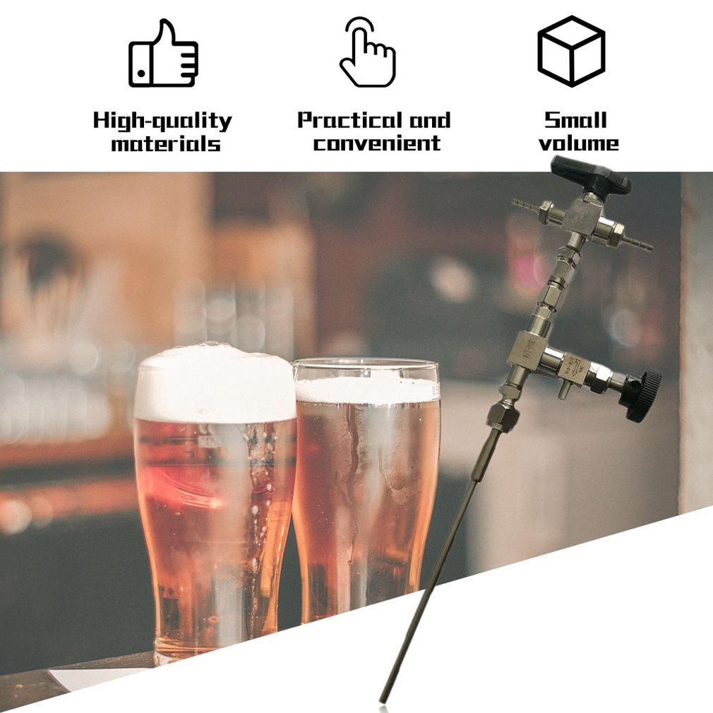 Bottle Filler 3 Way Hose Kit 304 Stainless Steel Counter Pressure Beer For Homebrewing Beer Home Brew co2 Gun Bottling Equipment