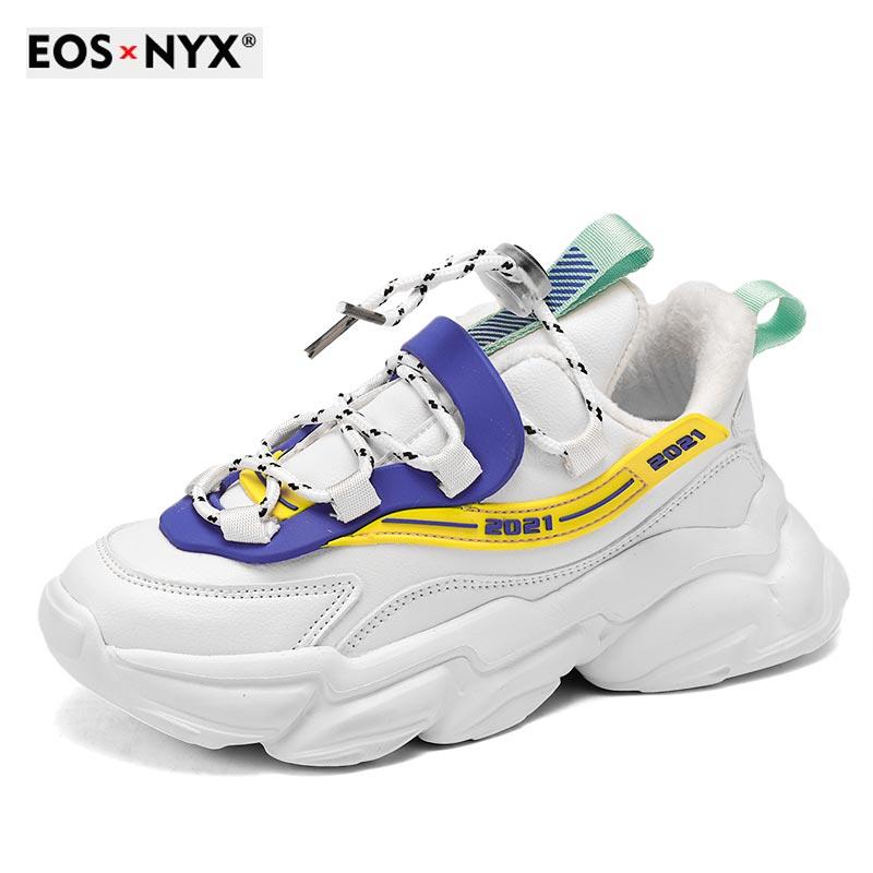 EOSNYX 2021 Fashion Autumn Children Casual Shoes Fashion Breathable Knitting Soft Bottom Non-Slip Ki