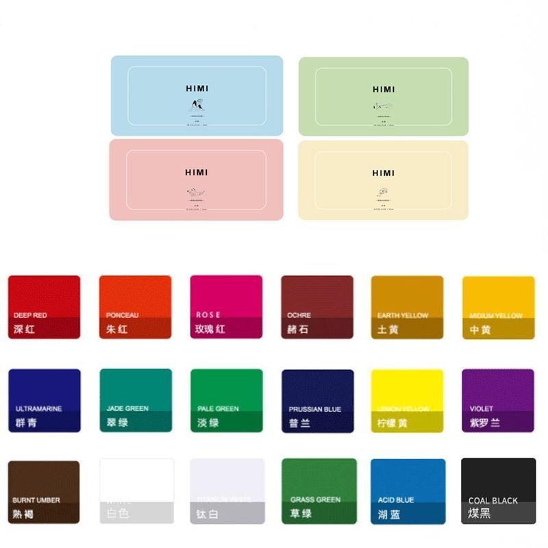 18 Colors Professional Gouache Watercolor Paints Set 30ml Unique Jelly Cup Design Gouache Paint For Student Artists Supplies