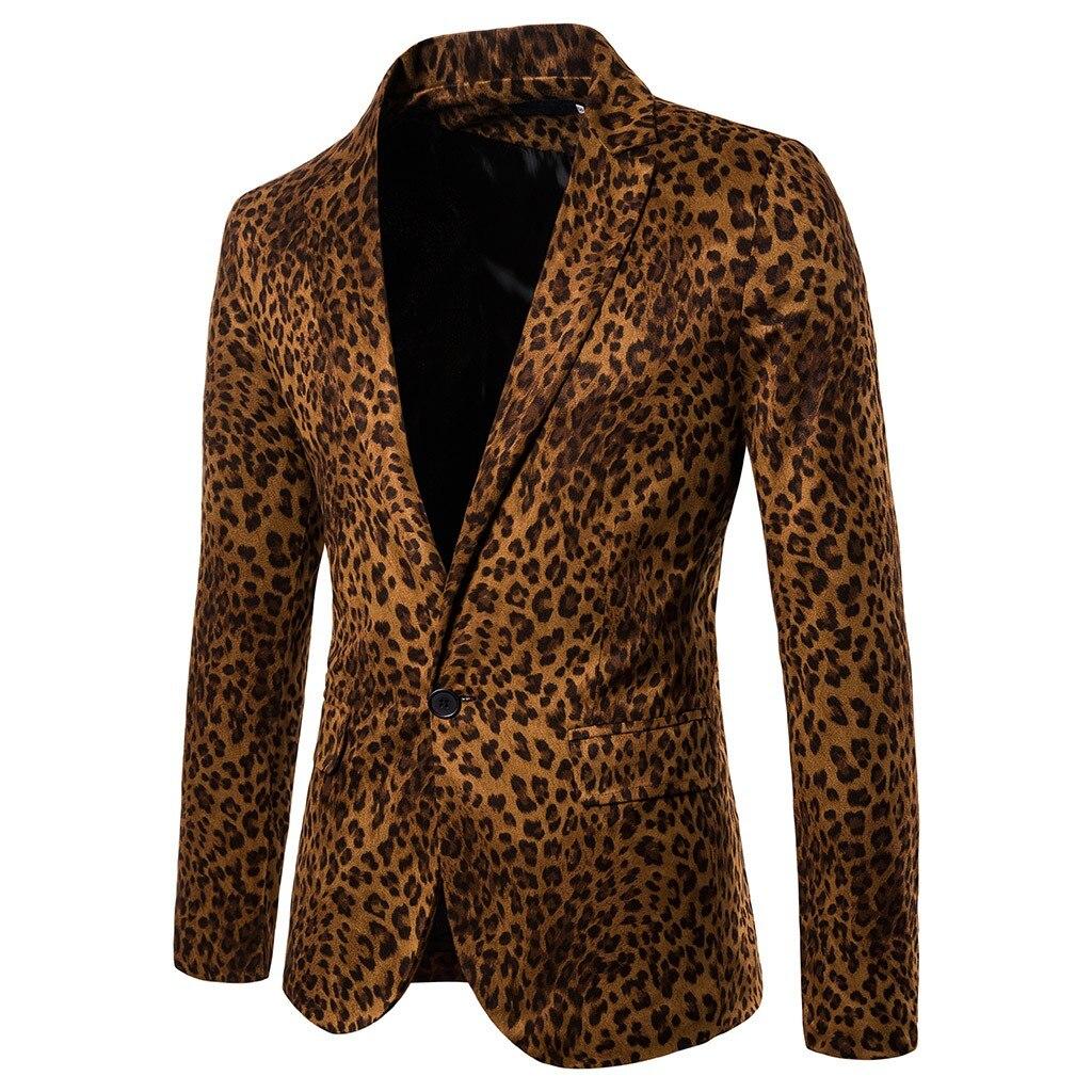 Charm Leopard Blazer Man Formal Wedding Suit Men Casual Slim Fit Formal Suit Blazer Fashion Single Button Suits Slim Fit 9M3
