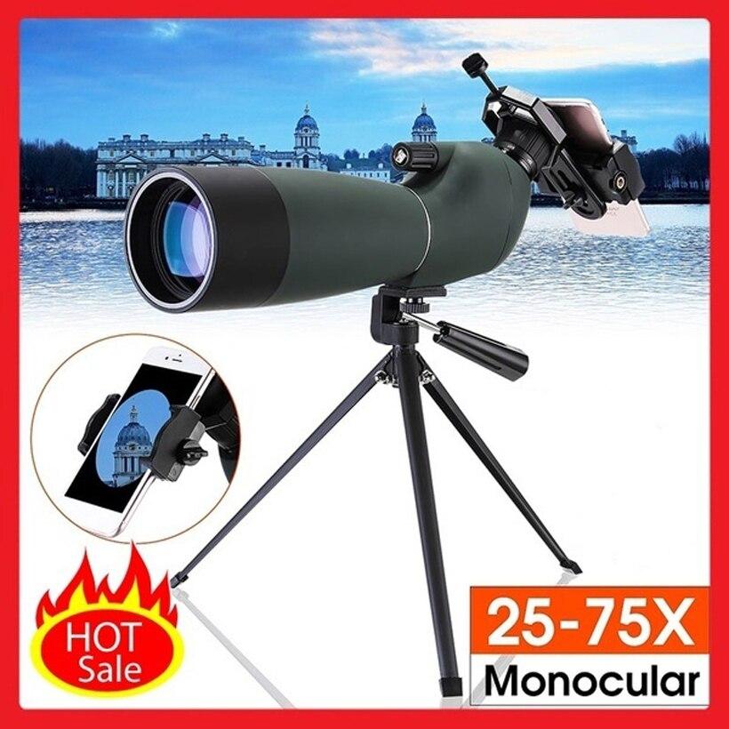 BAK4 25-75X70 HD À Prova de Choque À Prova D Água Zoom Óptico Len Ocular Do Telescópio Monocular para Observação de Aves de Âmbito Local Day/Night Vision