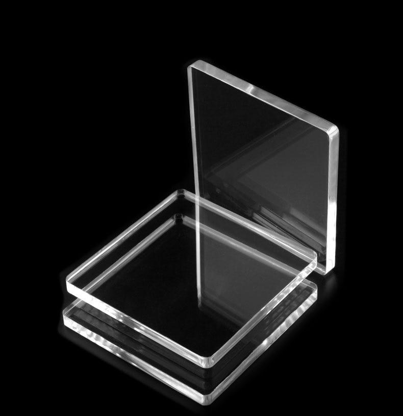 100*100MM transparente de acrílico transparente de plexiglás hoja de plástico plexiglás Panel de vidrio orgánico polimetacrilato de metilo