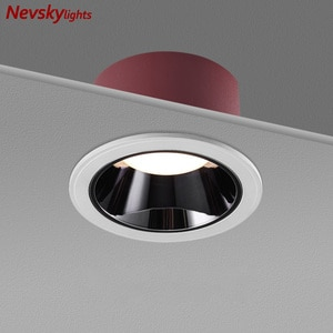Round Shallow cup spotlight Living Room Led Recessed spotlamps white Ceiling Downlight bedroom 7w led ceiling light fixture