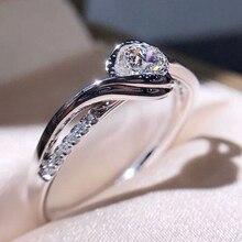 Bague de fiançailles classique AAA blanc cubique Zircon femme femmes Super Flash strass mariage bague CZ anneaux bijoux