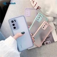 camera protection phone cases for xiaomi poco x3 m3 mi 11 10t lite cc9 redmi k40 k30 note 10 9 8 pro shockproof matte back cover