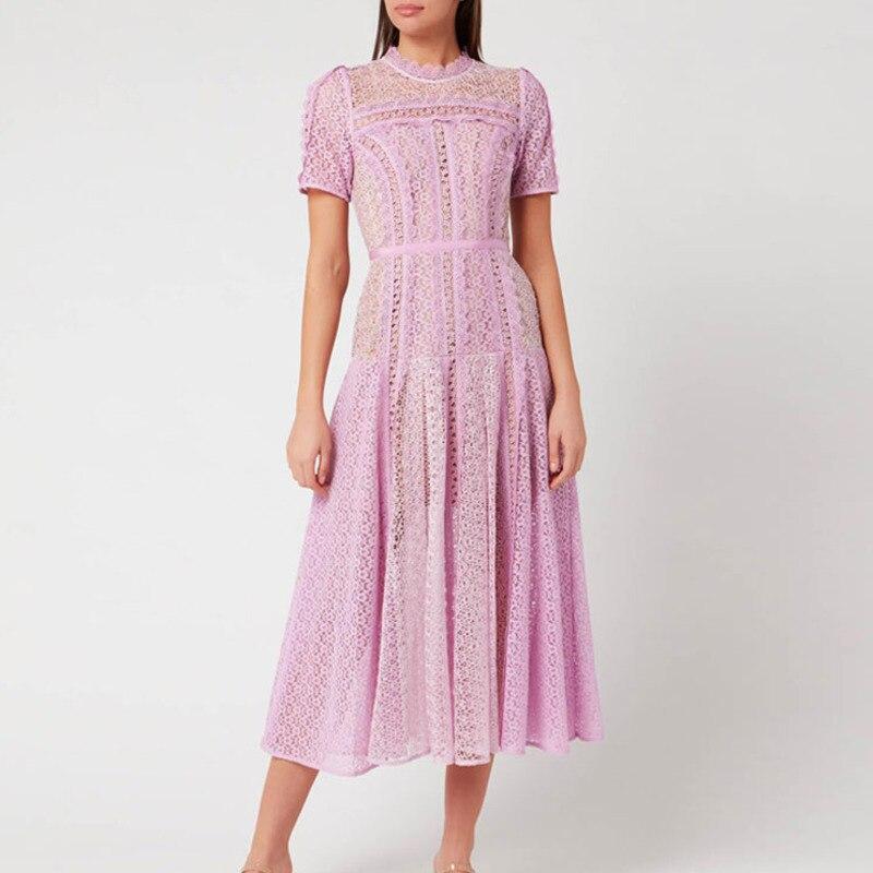 Traje Ete Femme 2020 diseño de lujo de alta calidad pista de largo Maxi vestido para las mujeres de encaje de verano de fiesta vestido Jurken