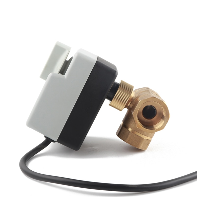 High quality DN20 3/4inch 3way electric water valve with manual switch actuator enlarge