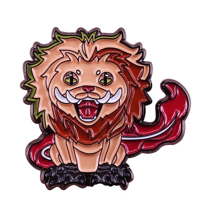 Pin de solapa Zouwu para fantastic beasts, broche de inspiración de crindelwald, orgullo, León, gato, colección de insignia artística psicodélica