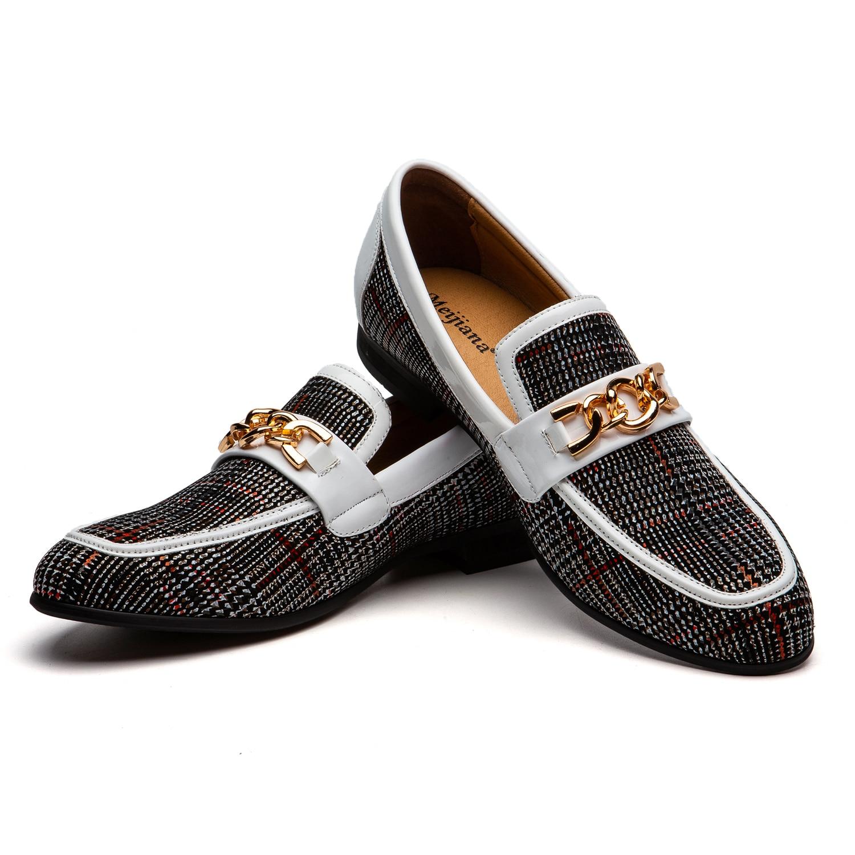 Zapatos MEIJIANA hechos a medida de terciopelo o gamuza de alta calidad para fiesta de boda mocasín a la moda para hombres hecho a mano Blake Stitch mocasines zapatos