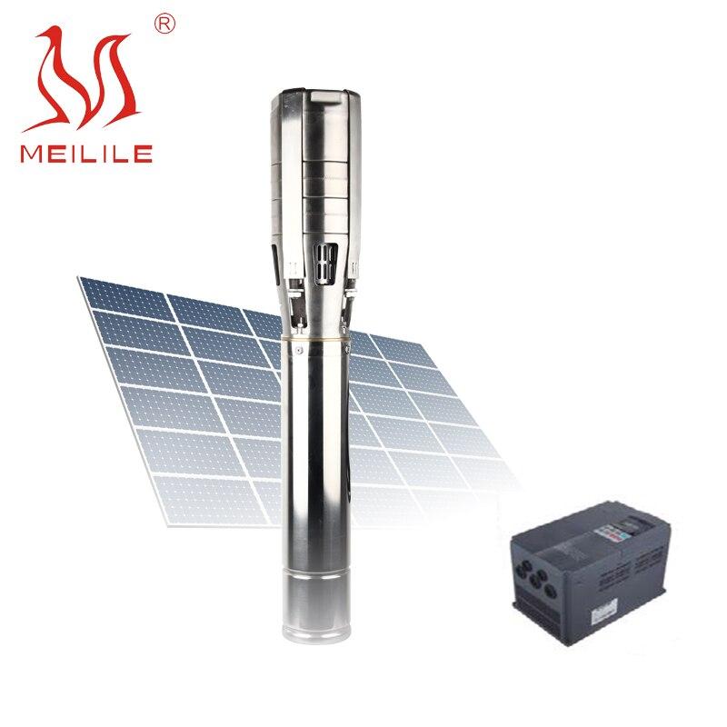 10hp مضخة مياه شمسية قابلة للاستخدام مع تدفق كبير 7.5kw مضخات شمسية مجموعة للري الزراعي