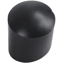 Tapas de goma, 40 piezas, extremo de tubo de goma negra, 10mm, redondo