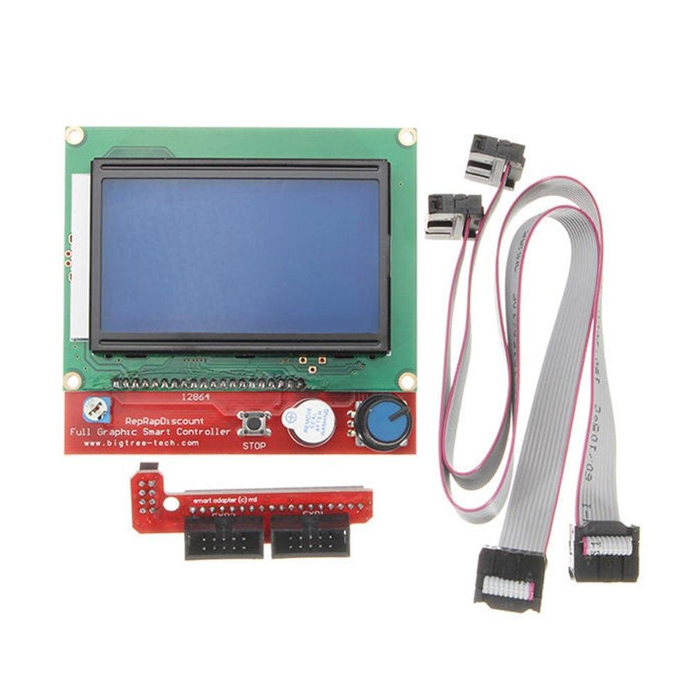Controlador de impresora 3D con pantalla LCD 12864 Digital inteligente para rampas 1,4, accesorios de impresora 3D Reprap
