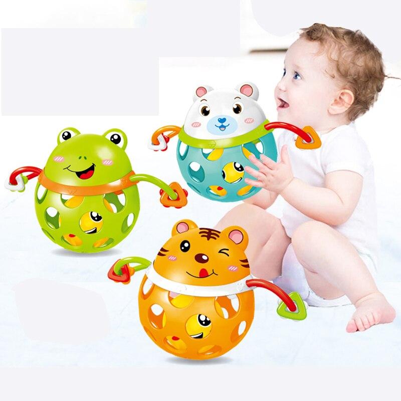 0-12months chocalhos do bebê brinquedos de brinquedo carros de plástico macio bebê mordedor mão agarrando bola brinquedos chocalho cedo educacional mão sino brinquedos do bebê