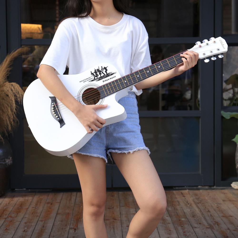 38 Polegada guitarra popular soprano basewoodtop spruce guitarra concerto guitarra presente iniciante agt181