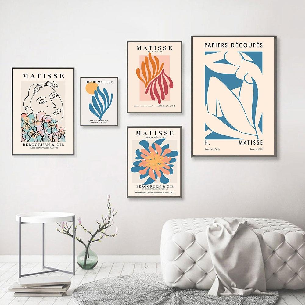 Imagem de fundo retro matisse póster e impressiones abstracta desnuda, arte da pintura colorida da lona
