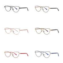 2021 New Retro Metal Cat Eye Reading Glasses Unisex Fashion Anti Blue Light Computer Classcial Presb