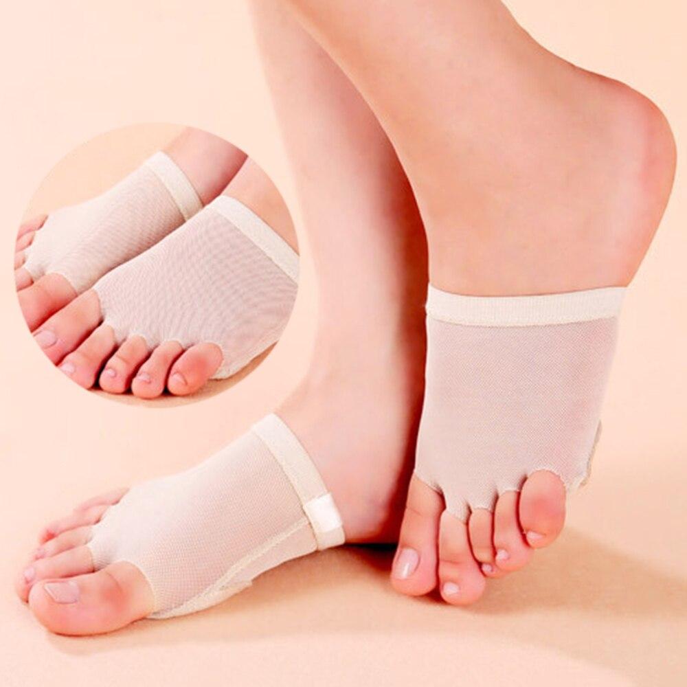 1 пара Уход за ногами живота/бальных танцев вкладыш для пальцев ног средства ухода за кожей стоп стринги Защитные носки 5 отверстий стопы ухо...