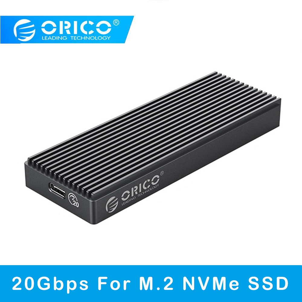 Orico 20gbps de alta velocidade m.2 nvme m chave b + m chave de estado sólido gabinete usb 3.2 tipo-c móvel ssd externo caso para computador portátil
