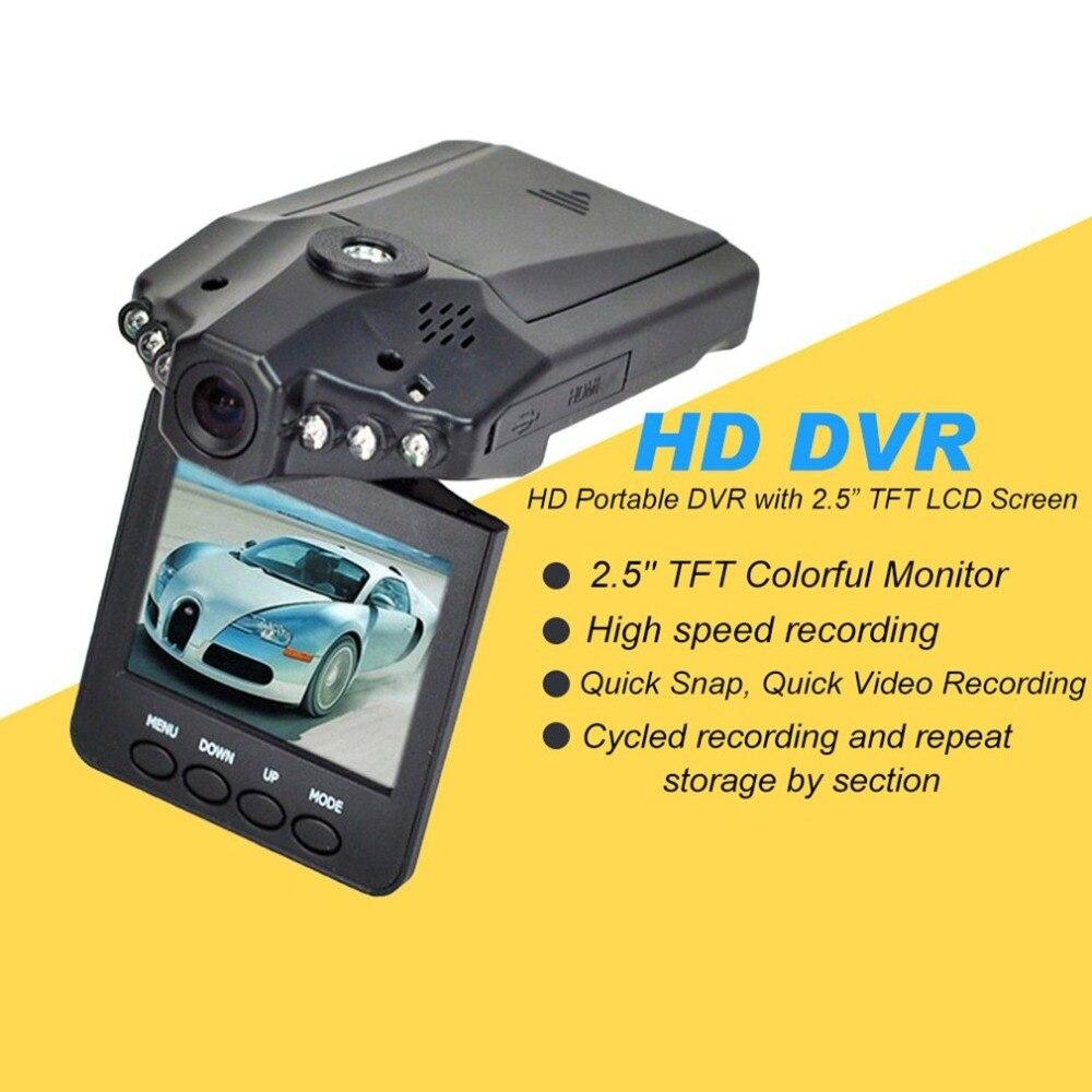 2,5 pulgadas HD coche LED DVR carretera Dash videocámara LCD grabadora de aparcamiento CMOS Senser grabación de alta velocidad
