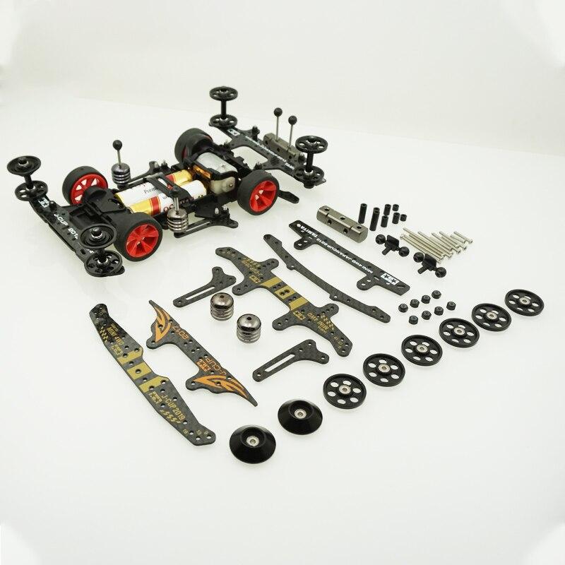 УГЛЕРОДНЫЙ передний и задний роликовый разрывной демпфер self made Tamiya mini 4WD, полная более Новая настройка для шасси VZ 324