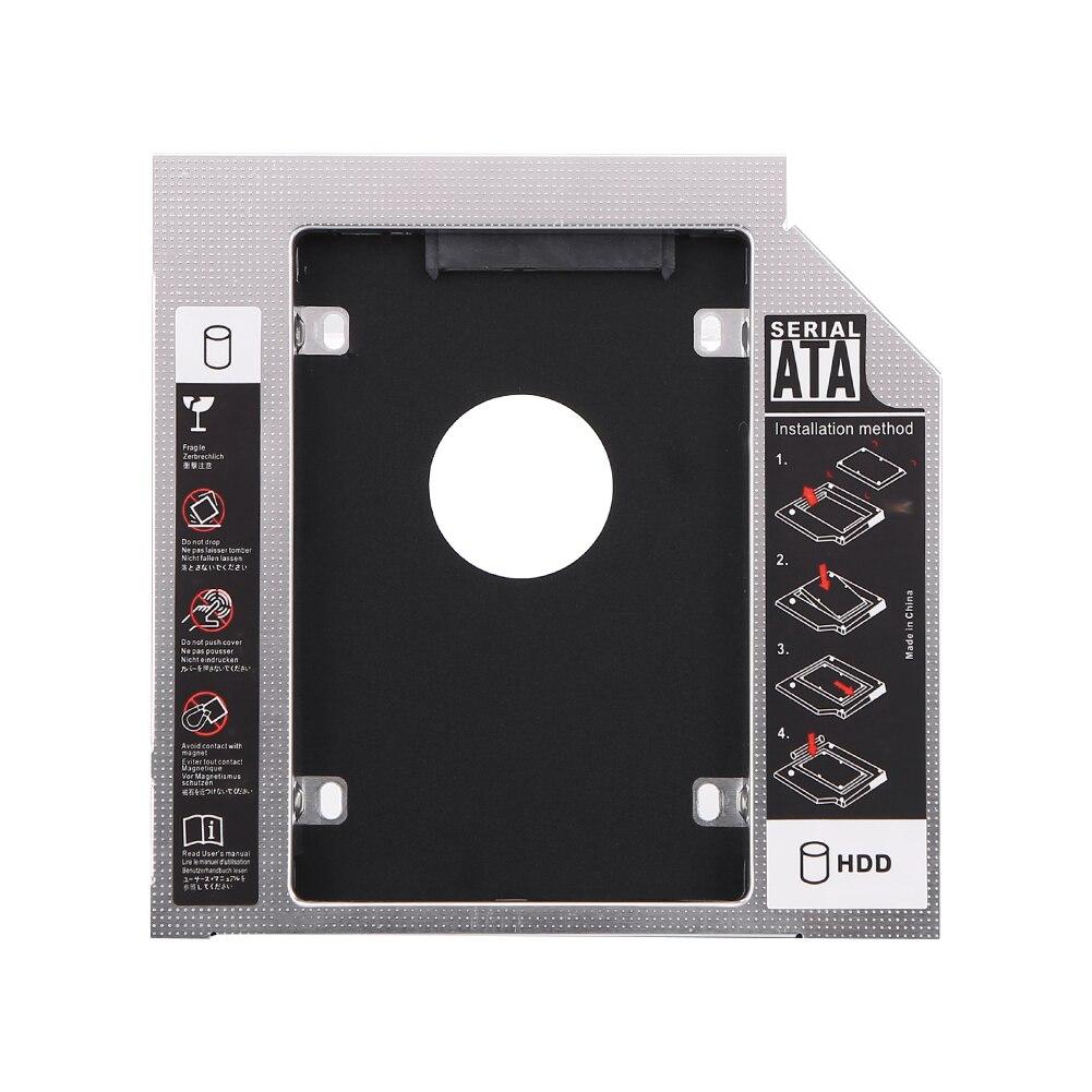 Vktech hdd caddy 9.5mm/12.7mm alumínio optibay sata 3.0 caixa de disco rígido gabinete dvd adaptador 2.5 ssd 10 tb para o portátil CD-ROM