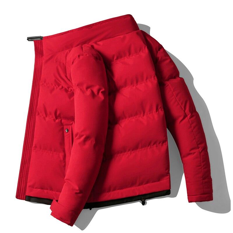 Мужская уличная куртка-бомбер в стиле хип-хоп, Зимняя парка 2020, Мужская однотонная куртка, плотное теплое пальто, длинная куртка с капюшоном ...