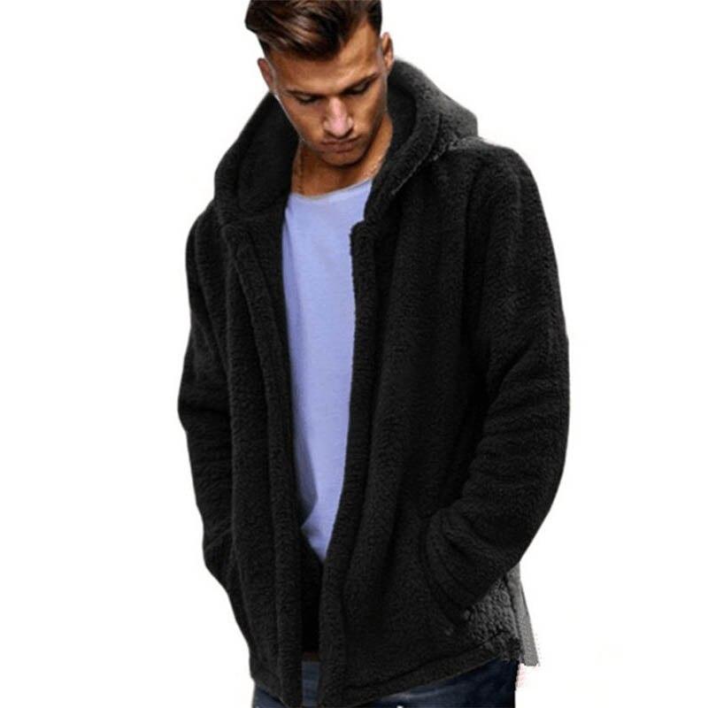Jersey cálido de lana 2020 cárdigan con capucha para hombre de abrigo...