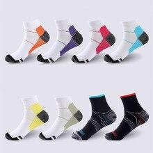 Hommes femmes chaussettes de Compression Fascia plantaire soutien de larc en cours dexécution sport cheville chaussettes hautes unisexe élastique Calcetines Sox S-L