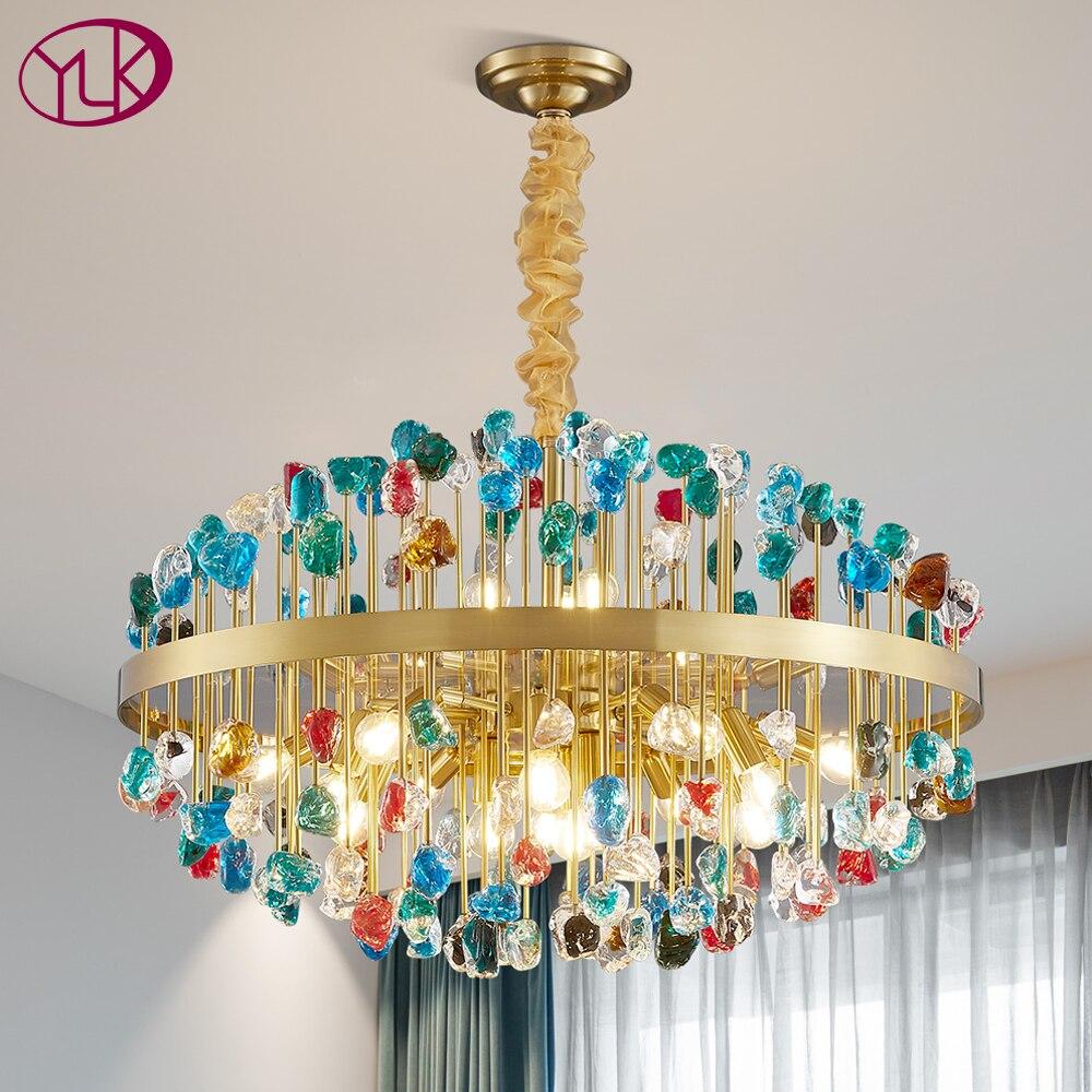 ثريا كريستال ذهبية حديثة ، تصميم فاخر ، إضاءة داخلية ، إضاءة سقف زخرفية ، مثالية لغرفة المعيشة أو غرفة الطعام.