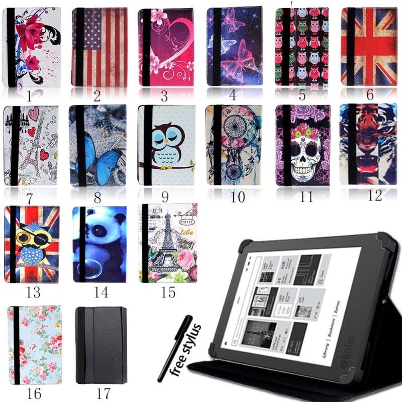 aliexpress.com - KK&LL For Kobo Glo HD/Kobo Touch 6″/Touch 2.0 (2015) eReader Tablet – Leather Tablet Stand Folio Smart Cover Case + Stylus