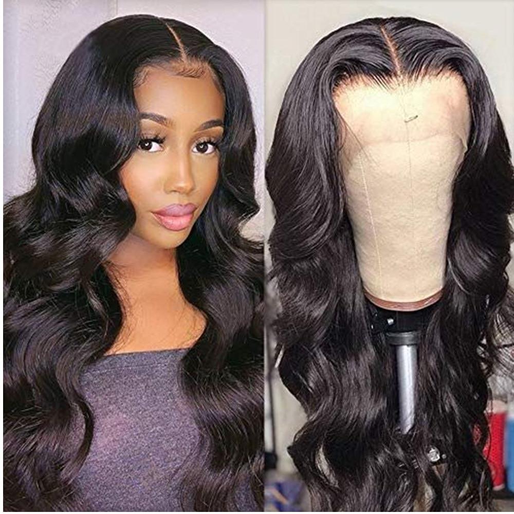 Парики из искусственных волос 13*4, парик из натуральных волос на кружеве, предварительно выщипывающийся парик из волнистых волос, парик из б...