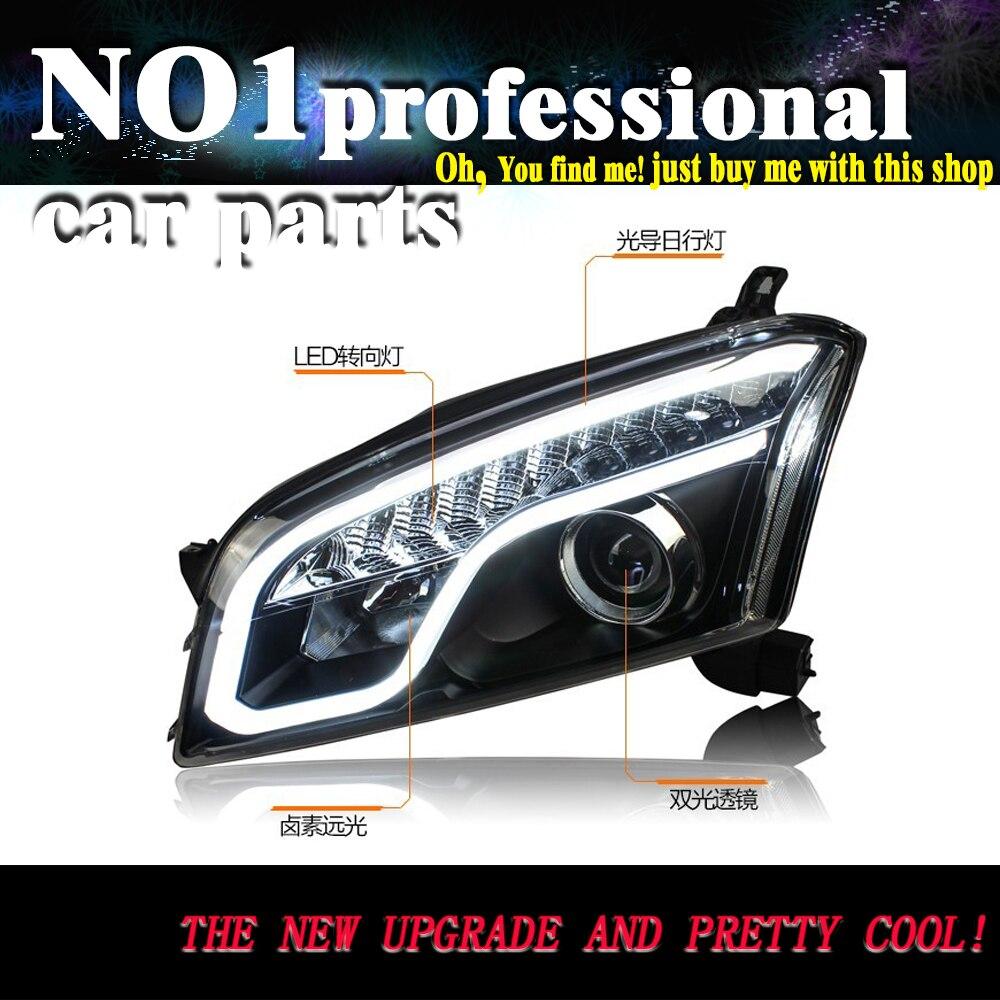 OUMIAO 시보레 트래커 용 헤드 램프 스타일링 LED 헤드 라이트 2014-2015 Trax DRL Bi 크세논 렌즈 하이 로우 빔 주차 안개 램프
