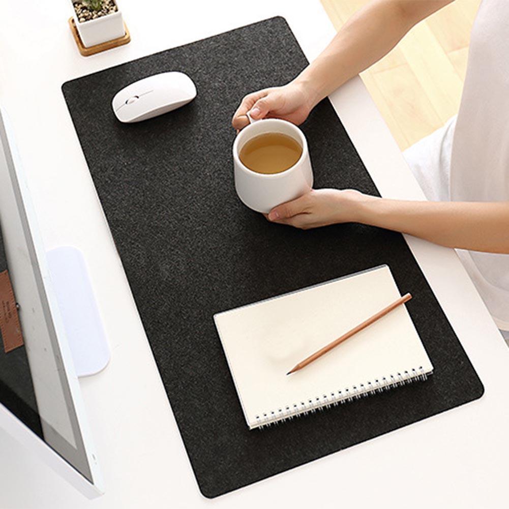 Компьютерный коврик для мыши, современный Настольный войлочный офисный коврик, коврик для мыши, подставка для ручек, шерстяная войлочная по...