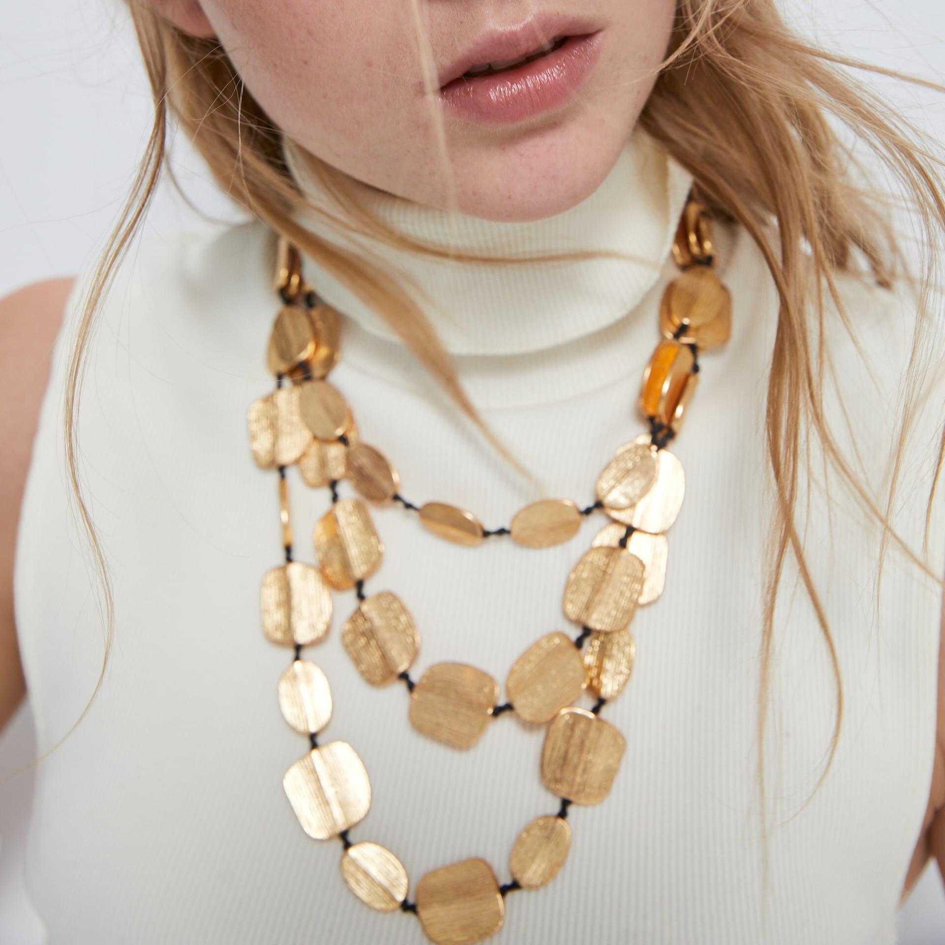 Collar de múltiples capas de Metal Vintage ZA, novedad de 2020, collar con colgante de piedra Natural de Animal bohemio de verano para mujer, joyería de fiesta