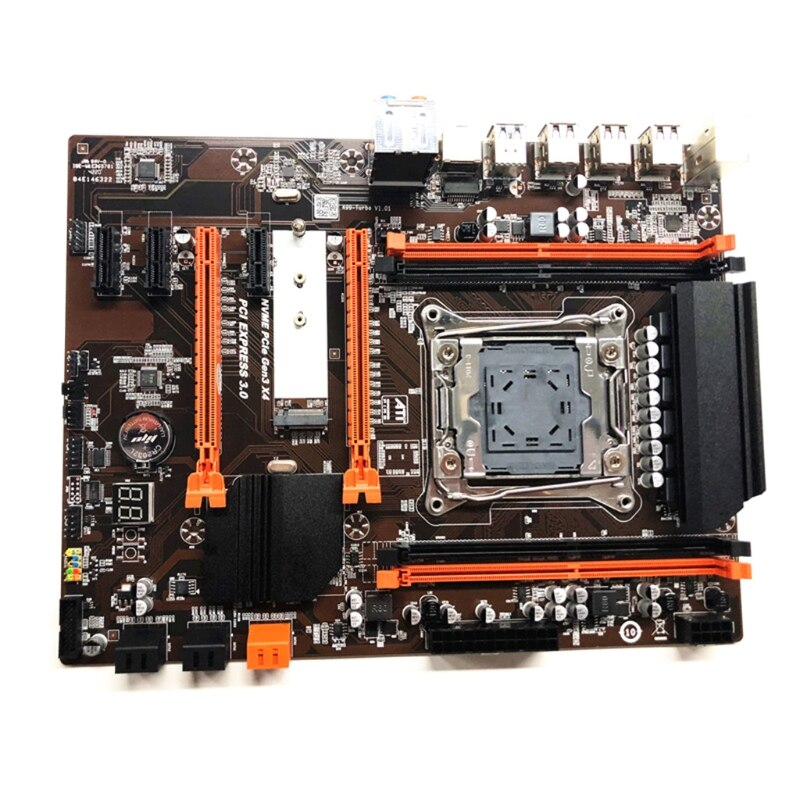 2011 V3 Computer Motherboard X99 ECC SATA 3.0 M.2 NVME SSD USB 3.0 DDR4 Memory