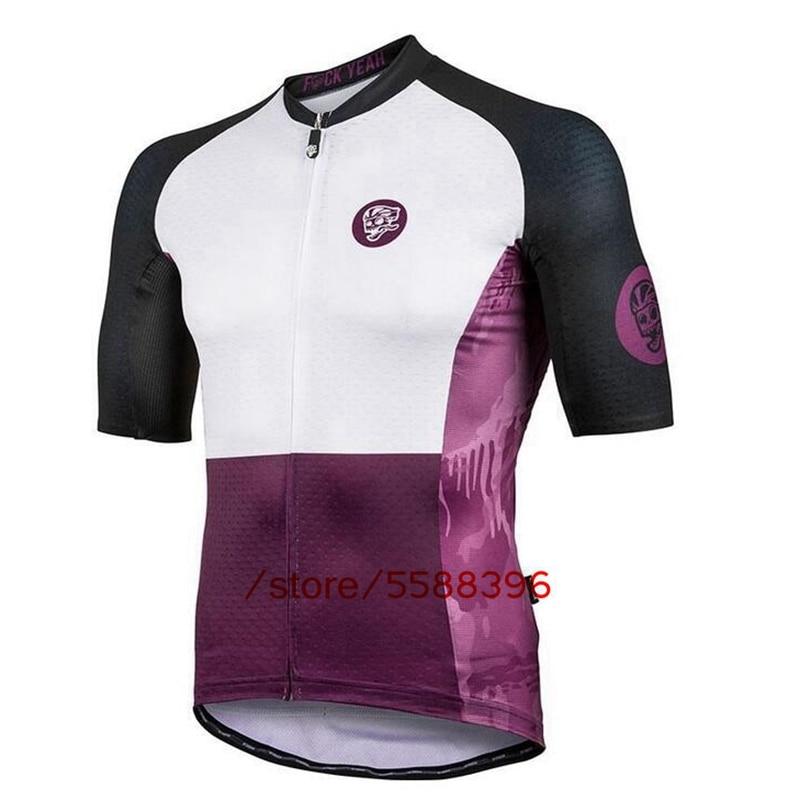 Conjunto de Ropa Retro para Ciclismo para hombre de la serie púrpura, Maillot de manga corta para Ciclismo de montaña al aire libre