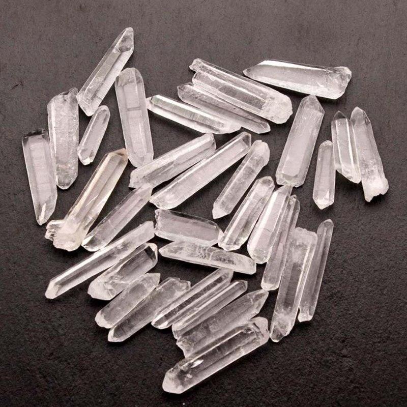 Cristal mineral de cuarzo natural, piedras preciosas naturales, piedra curativa de reiki...