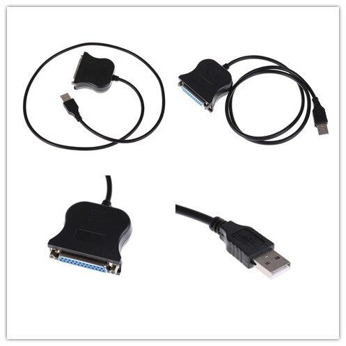1M USB a DB25 Puerto hembra convertidor de impresión Cable paralelo Cable de adaptador de Cable para HP hermano impresora Canon
