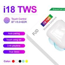 Oreillette musicale Bluetooth sans fil i18 TWS dorigine pour le contrôle tactile de tous les smartphones PK i10 i11 i12 i13 i14 i20 TWS
