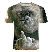 Men Animal t shirt Orangutan/monkey 3D Print tshirt Men Funny tees tops Short Sleeve O-neck 3D Print Summer Clothes