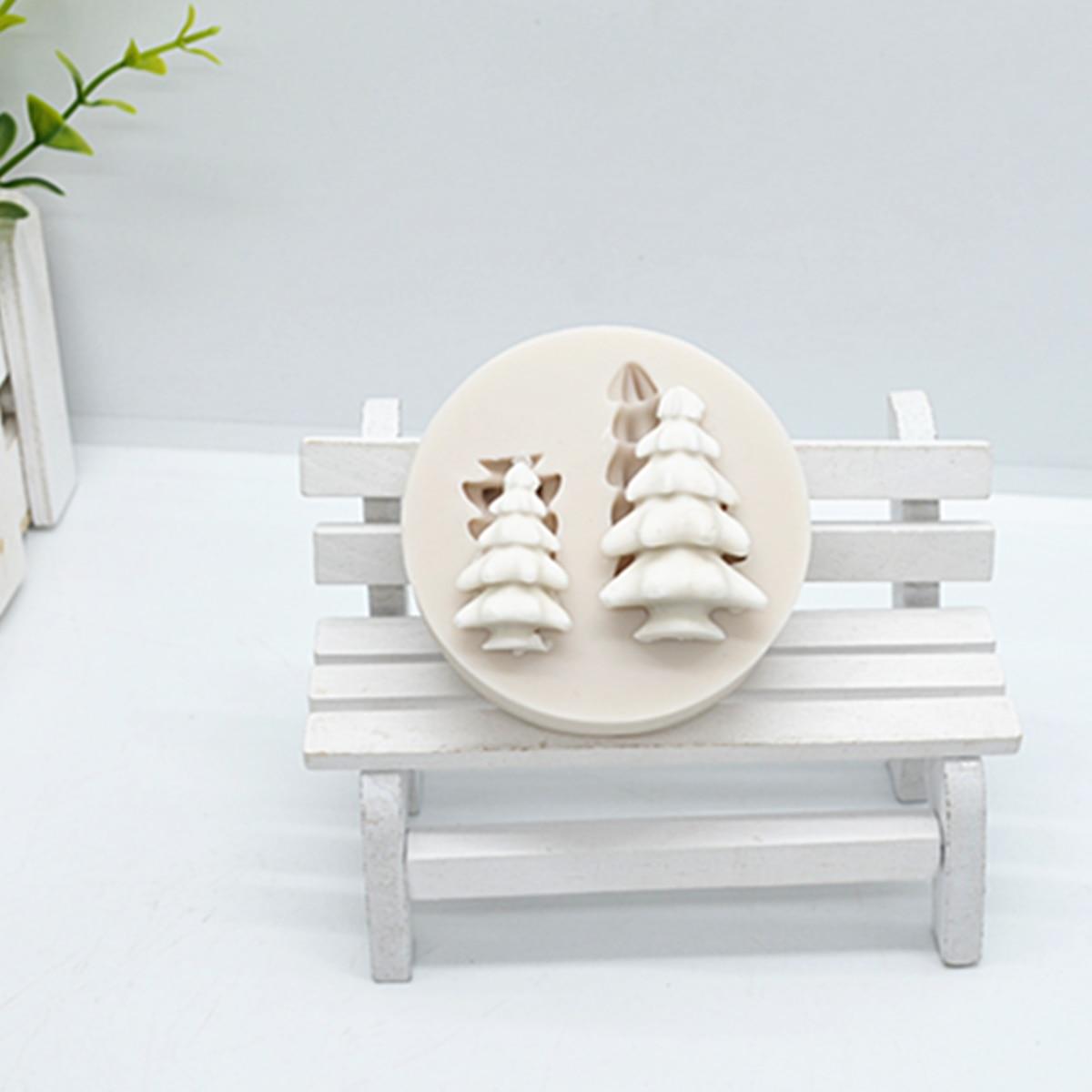 3D Рождественская елка, силиконовые формы для торта, формы для помадки, инструменты для украшения торта, кондитерские аксессуары для кухни, в...