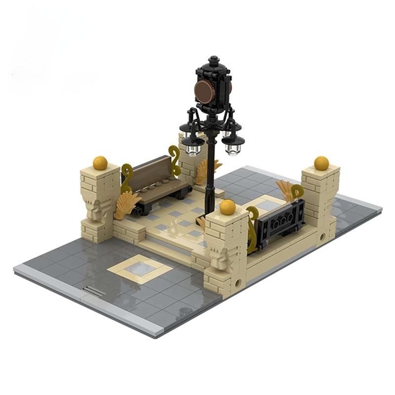 MOC London Street Lights 41731 Modular Inbetween-Clock Square Connection Building Blocks Bricks Playgame Toys Girl