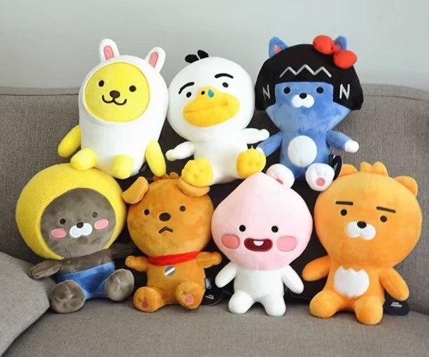 1pcs 25cm Korea Kakaoed-Friends Cartoon Ryan Stuffed & Plush Toys Kawaii Cute anime plush dolls Cocoa-Friends Animal Kids Gift
