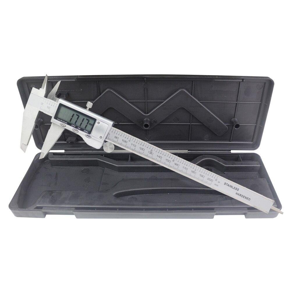 Calibrador Vernier Digital de 200mm, calibre electrónico de acero inoxidable de 8 pulgadas, herramientas de medición de 0,01mm, micrómetro