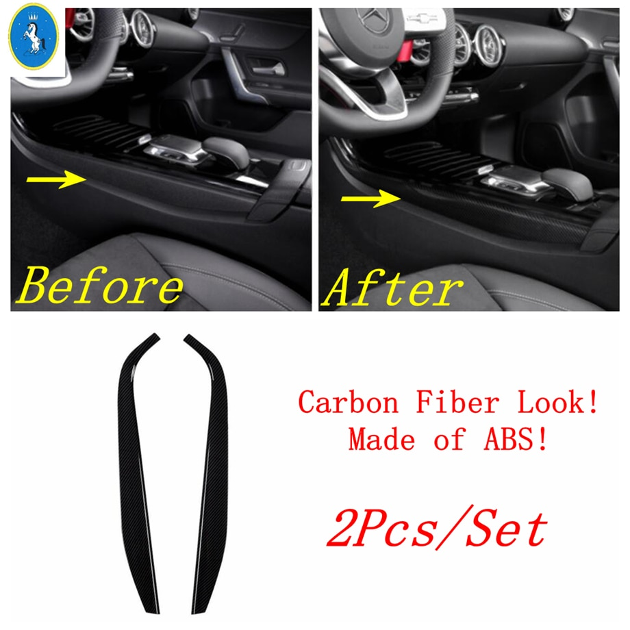 AliExpress - Yimaautotrims Transmission Shift Gear Panel Cover Strip For Mercedes Benz A Class W177 A200 A220 2019 2020 Interior Carbon Fiber