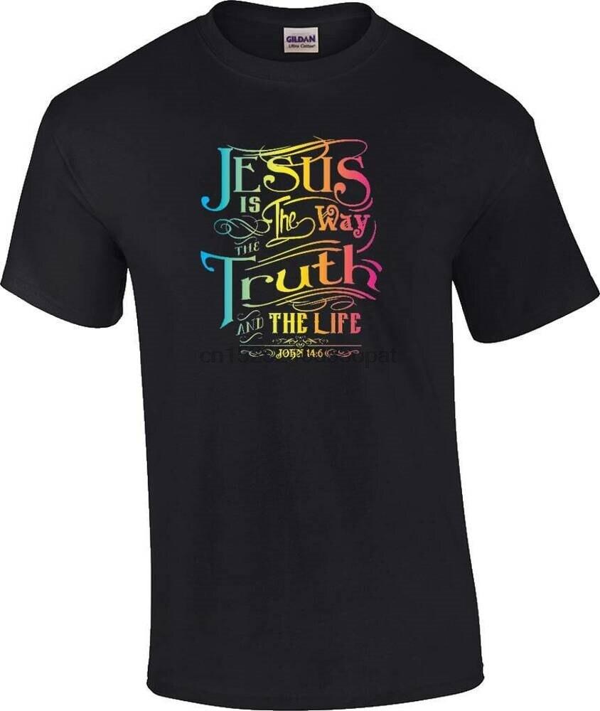 Camiseta cristiana neón Jesús es el camino la verdad y la vida religiosa